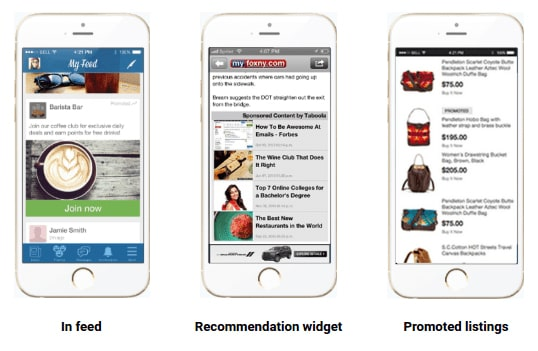 Recommendations and promoted listings