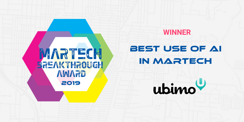 martech award 2019 best use of ai