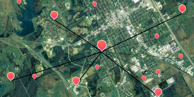 Location ranking in real time